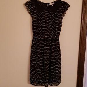 Black/white polkadot dress.sz small Delias